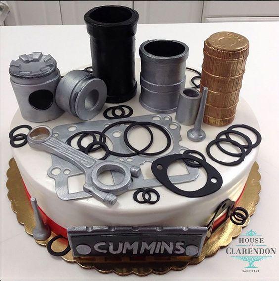 An edible mechanical cake.