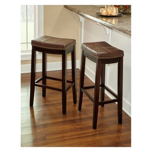 Padded Saddle Seat Barstool Hardwood Linon Bar Stools Backless Bar Stools Stool Saddle seat bar stools