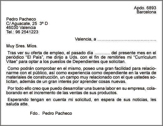 La Vega Online Empleo Y Autoempleo Carta De Presentación Modelo Carta Carta De Presentación Carta De Presentacion Laboral