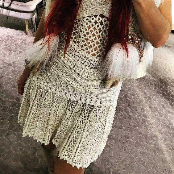 Special Details ❤️❤️❤️ #vanessamontorocrochet #handmadeluxurydresses ❤️❤️❤️☺️