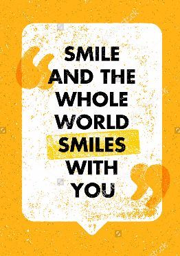 Smile And The Whole Smiles With You Motivational Quotes For Kids Typography Design Quotes Design Quotes