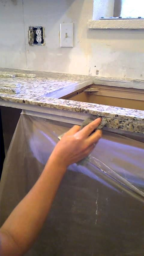 Image Result For How To Finish Edge Of Granite Tile Countertop