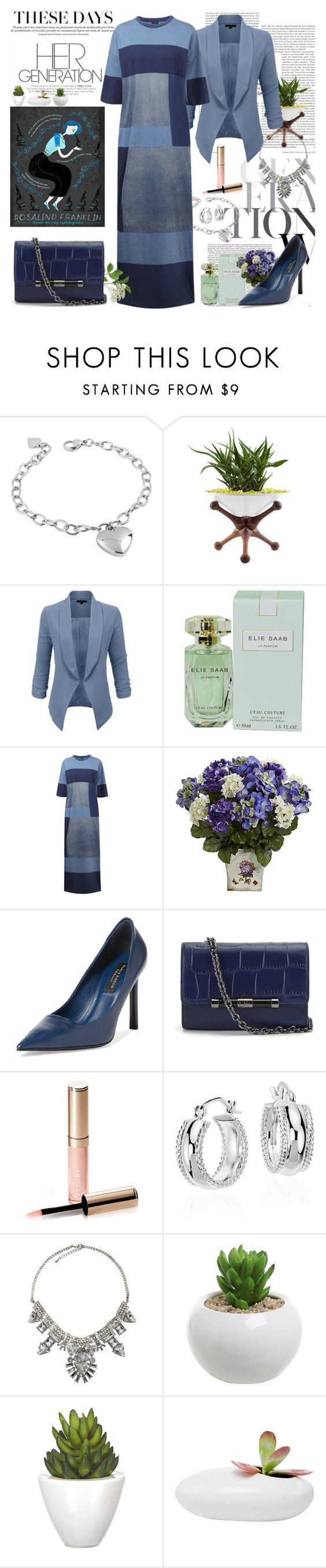 """Last 3 Sets!"" by nefertiti1373 ❤ liked on Polyvore featuring West Coast Jewelry, Steel Life, LE3NO, Elie Saab, Joseph, Nearly Natural, L.K.Bennett, Diane Von Furstenberg, By Terry and Blue Nile"