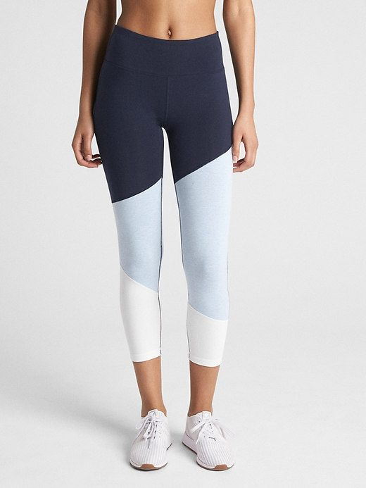 XS Joy Lab Asymmetrical Color Block Mid Rise 7//8 Leggings Women/'s Navy New Size
