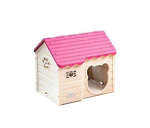 Dgs Alpha Dog Series Medium Sized Indoor Plastic Doghouse Pink
