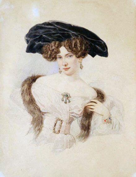 1820s Evdokia Bakunina by Alexander Pavlovich Brullov: