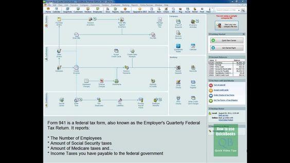 QuickBooks 941 Feature Creates Tax Form 941 Fast! Video IRS Tax - federal tax form