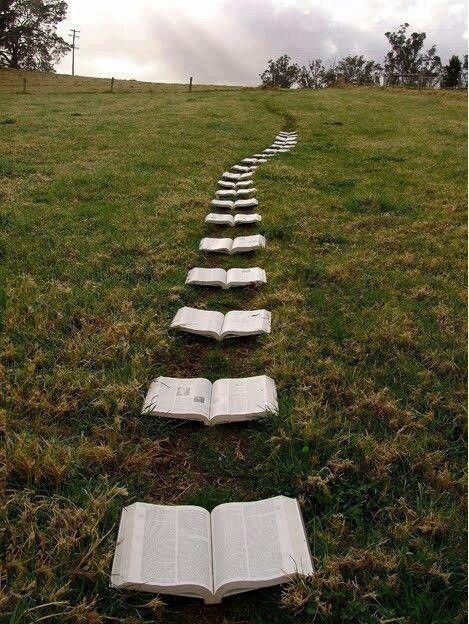 That would be cool if it was concrete or something not an actual book...i would never be able to step on it if it was real