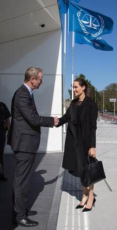 Angelina Jolie Pitt visits ICC Trust Fund for Victims in The Hague