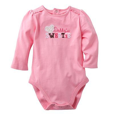 Jumping Beans Embroidered Bodysuit - Baby