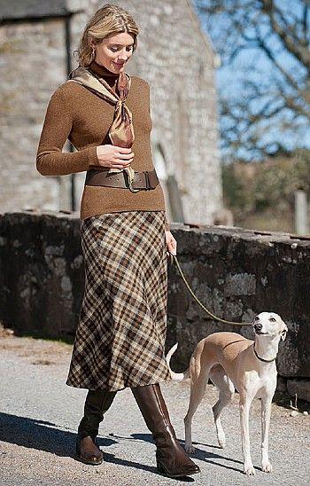 House of Bruar Ladies Tweed Bias Cut Skirt