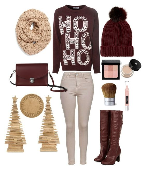 """Christmas #1"" by cassidy-vn ❤ liked on Polyvore featuring Topshop, Glamorous, Collection XIIX, River Island, The Cambridge Satchel Company, Bobbi Brown Cosmetics, Victoria's Secret, Bare Escentuals, Bloomingville and WaterGuard"