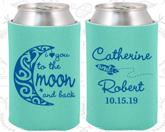 Robin Egg Blue Wedding, Can Coolers, Robin Egg Blue Wedding Favors, Robin Egg Blue Wedding Gift, Robin Egg Blue Can Koozies (224)