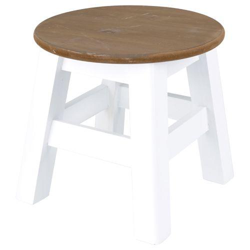 Deco krukje rond hout wit nat home mooi voor weinig decoratie en styling - Deco hout ...
