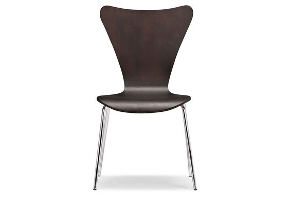 One Kings Lane - The Modern Home - Wenge Willis Dining Chairs, Set of 4