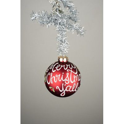 Glory Haus Merry Christmas Y'all Glass Ornament