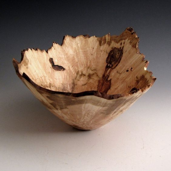 Jerry smith ambrosia maple burl wood turned bowl with a