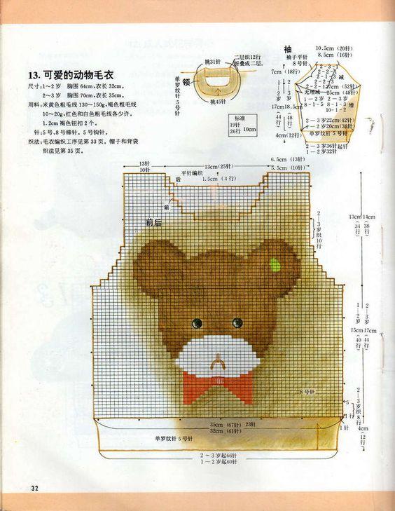 【转载】日本幼儿毛衣 0-3岁 - 紫竹的日志 - 网易博客: