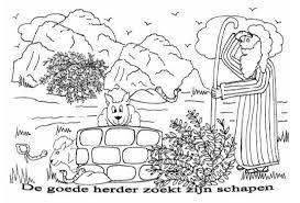 Afbeeldingsresultaat voor jezus is de goede herder kleurplaat