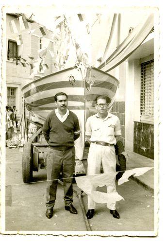 BOTE DE VELA LATINA, Las Palmas de G.C., Gran Canaria, ca 1960