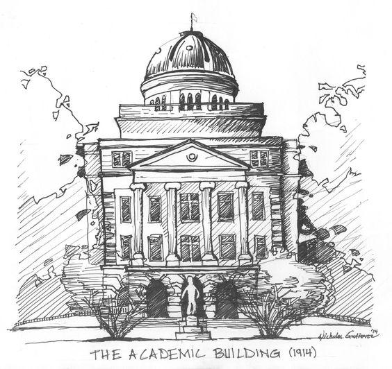 TAMU Academic Building Sketch | TEXAS A&M | Pinterest | Sketches ...