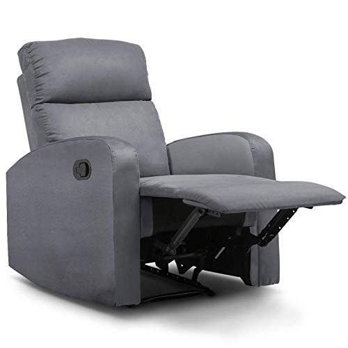 Idmarket Fauteuil Relaxation Inclinable Gris Anthracite Fauteuil Fauteuil Relax Relax