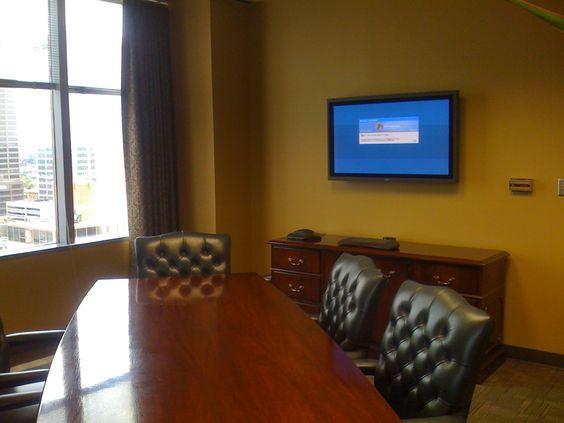 Small Conference Room AV Installation.