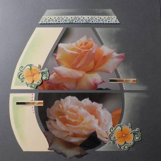 Page de Scrap - La rose