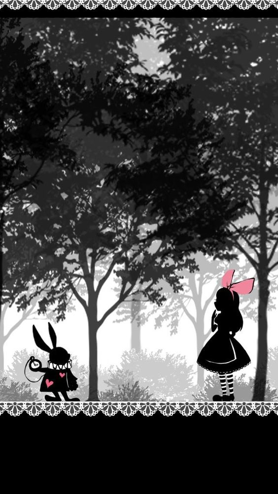 Alice in Wonderland lock screen #Wallpaper #Background #Patterns #Print #PapelDeParede #Desenhos #Ilustrações:
