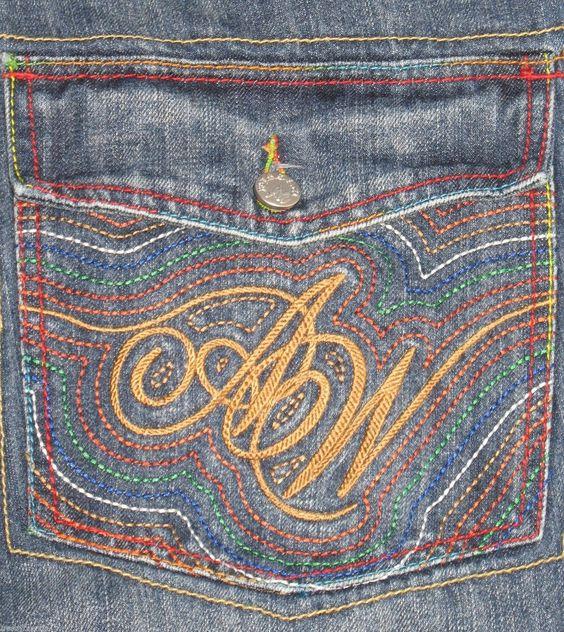 Al Wissam Mens Jeans Size 36 x 29 Skater Hip Hop Stitching Baggy