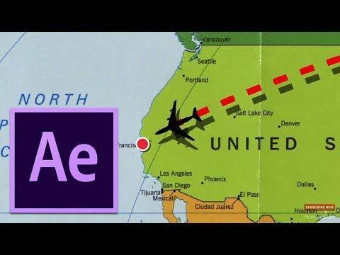 Adobe After Effects Tutorial Flight Path Animation Template On The Map Youtube Adobe After Effects Tutorials After Effect Tutorial Motion Graphics Tutorial