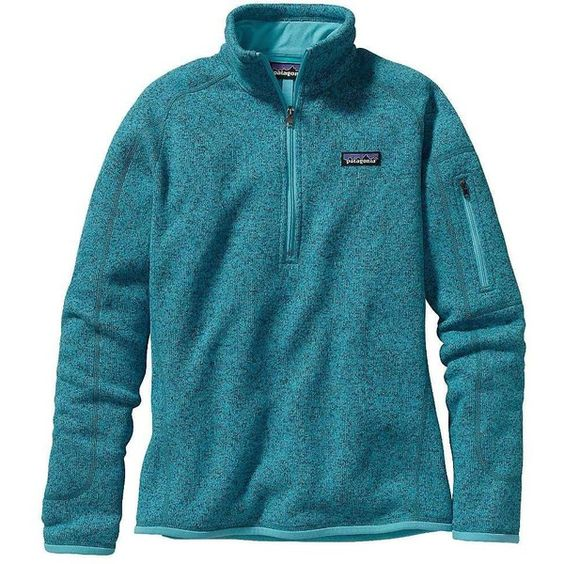 Patagonia Women's Better Sweater 1/4 Zip ($99) ❤ liked on Polyvore featuring tops, ultramarine, blue top, patagonia, cross tops, zipper top and zip top