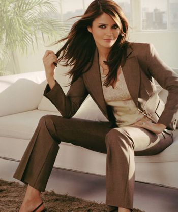 Womens Brown Suit Jacket