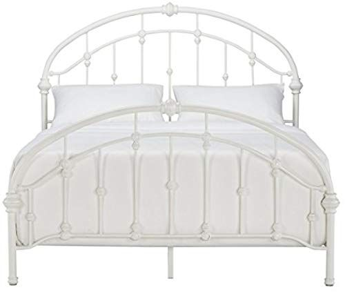 New White Antique Vintage Metal Bed Frame Rustic Wrought Cast Iron