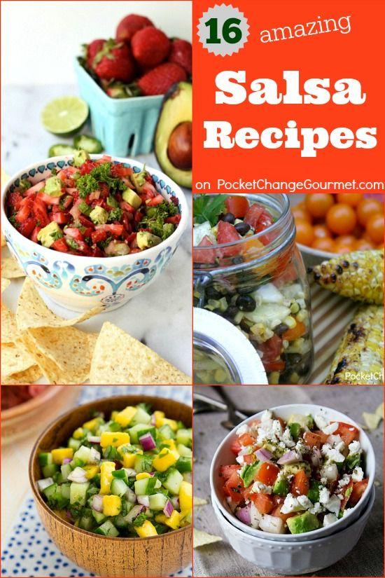 16 Salsa Recipes | on PocketChangeGourmet.com
