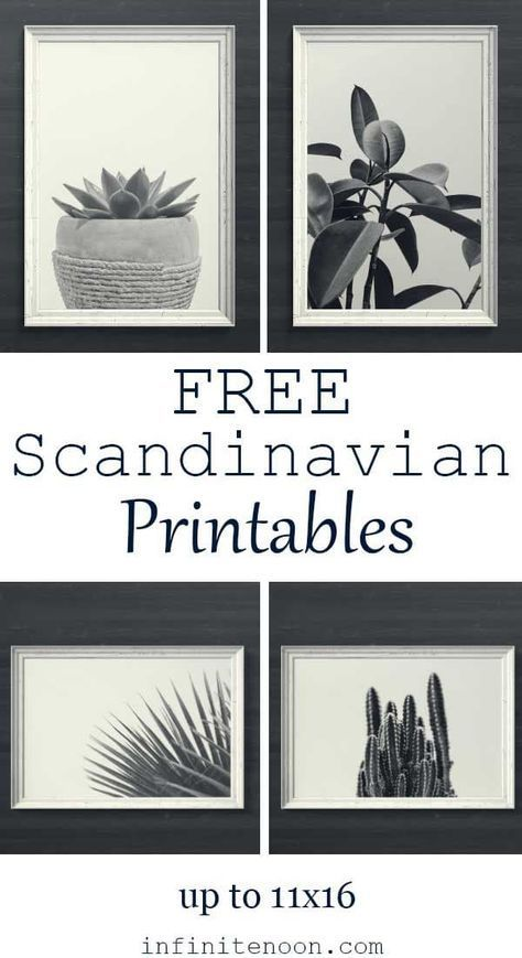 Free Scandinavian Minimal Plant Printables Wall Art Black And White Modern Style 5 Art Prints Are Gallery Wall Printables Free Wall Printables Free Wall Art
