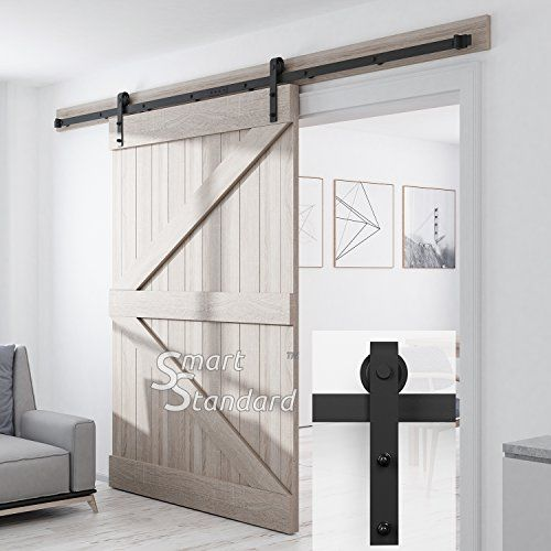 Smartstandard Sdh1000jshape01bk Heavy Duty Sturdy Sliding Https Www Amazon Com Dp B078hbkblz Ref Cm Sliding Barn Door Hardware Sliding Barn Door Barn Door