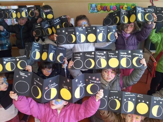 fases de la luna para niños -