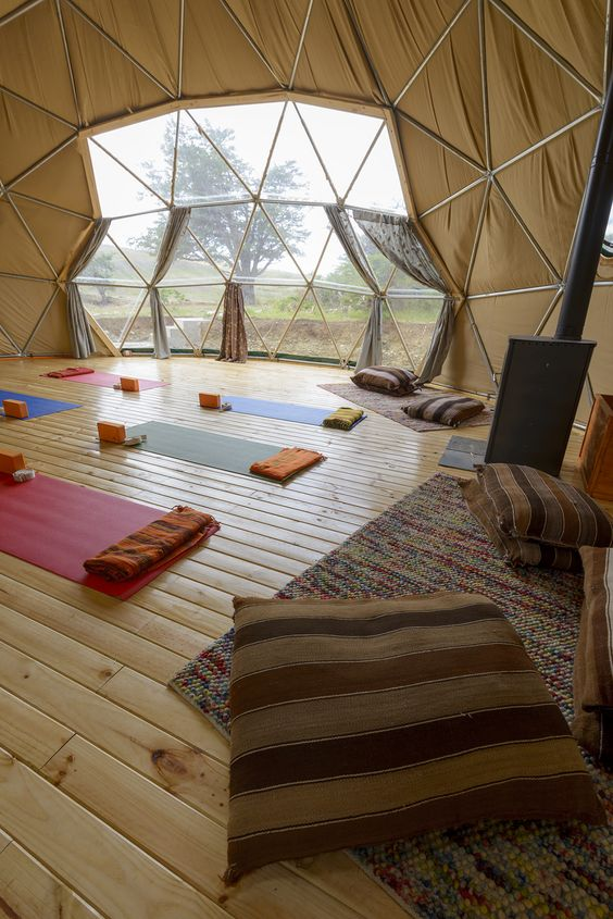 EcoCamp's Yoga Dome #yoga I want to practice here!
