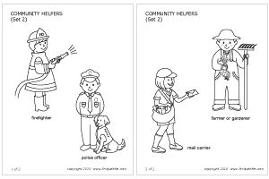 coloring pages lesson plan our community   Community Helpers & People's Jobs   Printable Templates ...