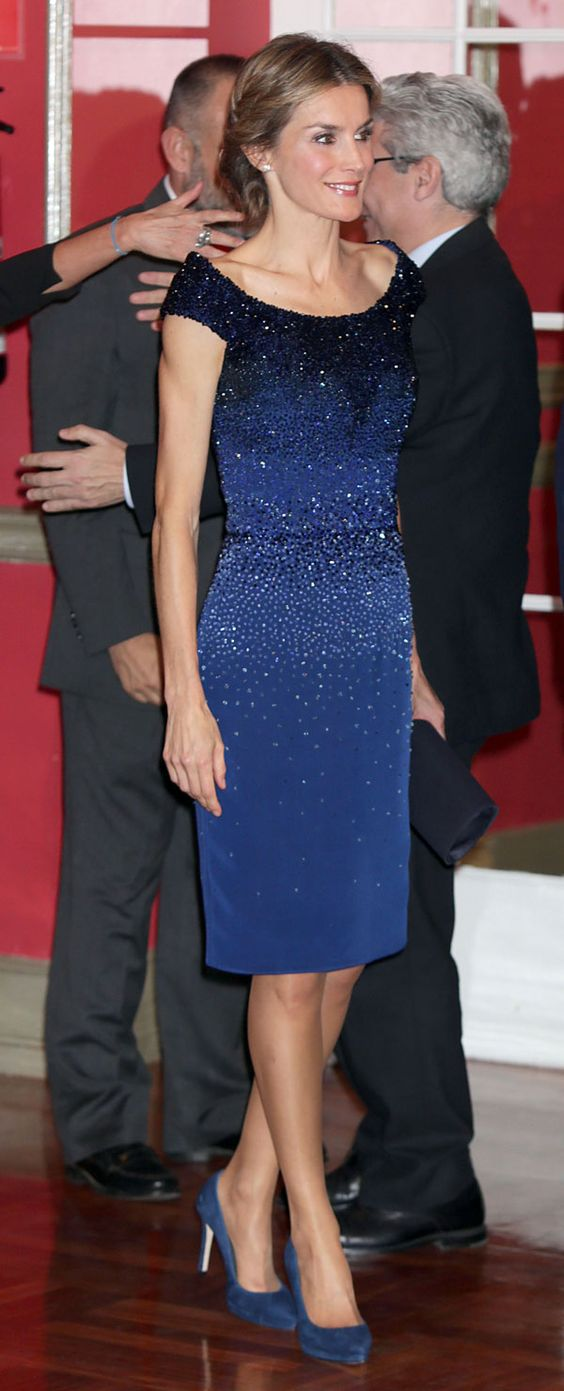 """King Felipe and Queen Létizia presided over the ceremony of the 13th edition of the International Journalism Award of the newspaper """"El Mundo"""", Oct 21, 2014."""
