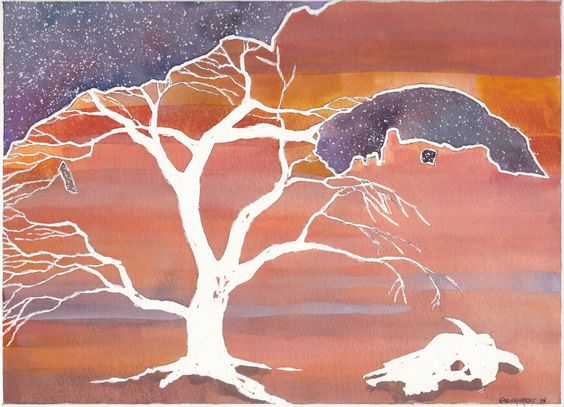 Arches National Park. Abstract watercolor painting. Utah landscape by EngelhardtDesigns on Etsy