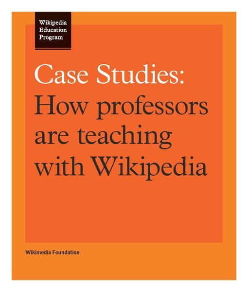 File:Wikipedia Education Program Case Studies.pdf