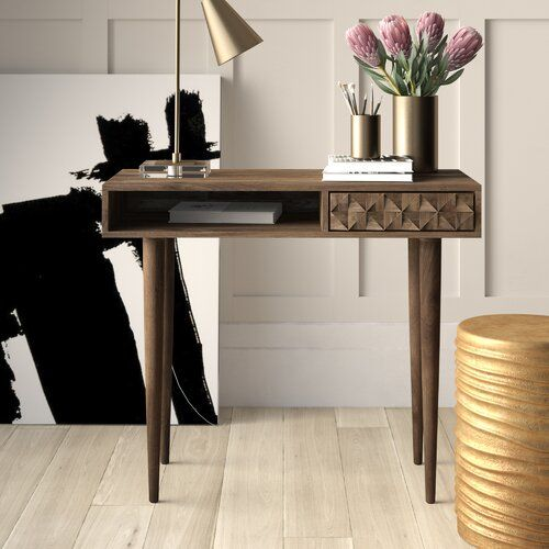 Mercury Row Banach Solid Wood Writing Desk Reviews Wayfair