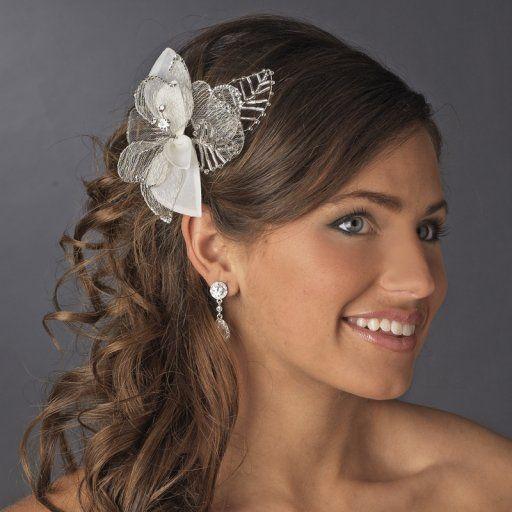 Coiffure de mariage cheveux long diademe