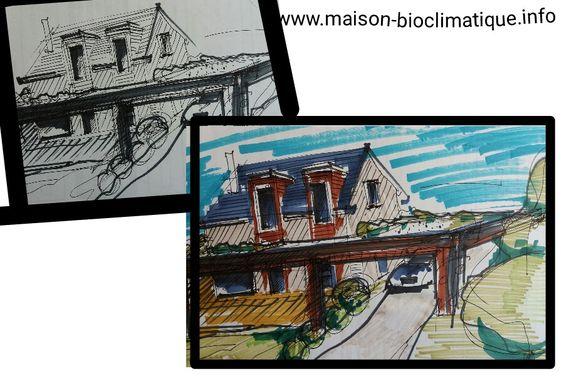 maison a etage avec un plan en v (1) Travaux, extension