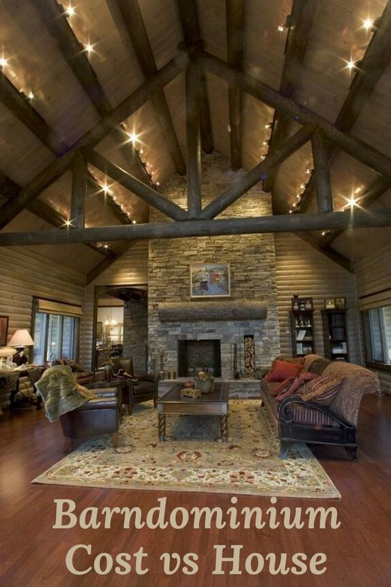 Barndominium Cost vs House? What's the difference? Houses are typically built of wood or brick and have ceiling heights limited to 8-9 feet. Barndominiums on the other hand are typically made of metal and can have incredible vaulted ceiling heights of 14 feet+, they are as different as night and day — on the outside. But on the inside, anything you could imagine doing in a custom home you can do it in a barndo (rustic chic or modern farmhouse) — and make the ceilings as high as you want.