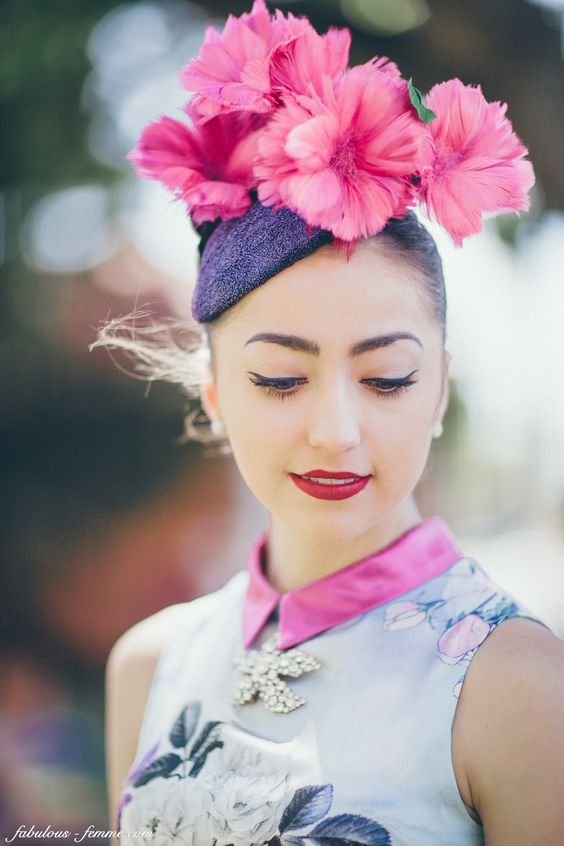 florals at the melbourne races