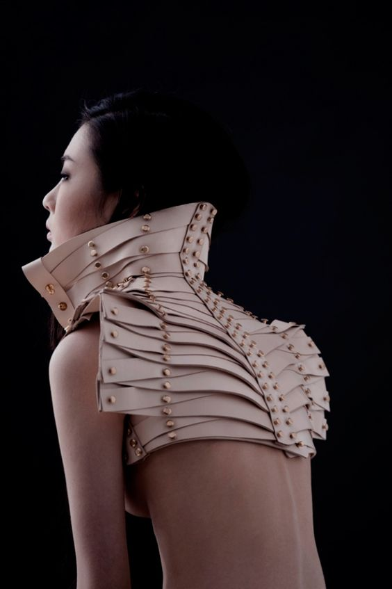 Love her work, with structure and studs in the leather, its a recipe for High and upcoming fashion pieces!
