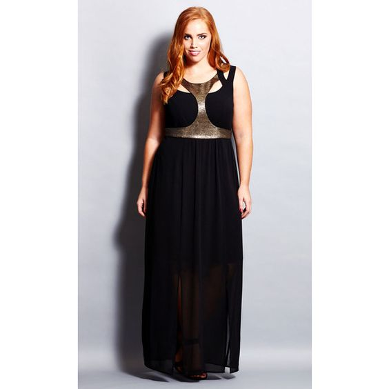 maxi dress black queens